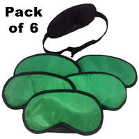 Blind Fold for School Games - Green (6 Pack)