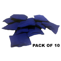 Cotton Throwing Bean Bags - Blue (Pack of 10)