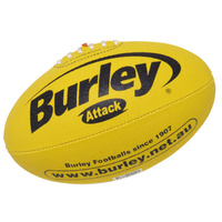 Burley Attack Synthetic Leather Football - Yellow