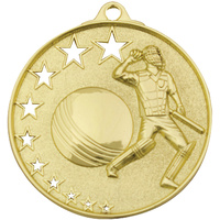 Cricket Stars Medal Gold